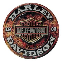 Harley Davidson Stone Rust Sign Ande Rooney Harley Davidson Embossed Tin Sign Collection utilizes lithographed on tin process, this makes for a more detailed and inticate sign. The result is a reprodu