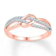 Diamond Ring 1/5 ct tw Round-cut 10K Rose Gold