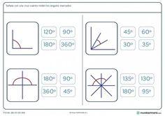Ficha de medición de ángulos para primaria