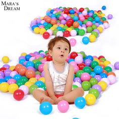 2016 High quality 50Pcs/Lot Colorful Ball Fun Ball Soft Plastic Ocean Ball Baby Kid Toy Swim Pit Toy Eco-Friendly