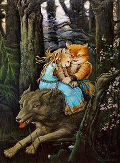 Alexander Maskaev  ?  И серый волк - картина А.В.Маскаева