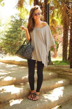 Leggings And Shirt 2017 Street Style