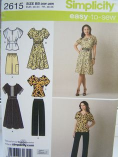 Simplicity 2615 Women's Sewing Pattern Misses' by WitsEndDesign (Diana Moden 1/2011 special)