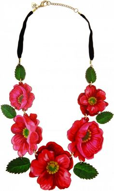 Russian Floral Statement Necklace