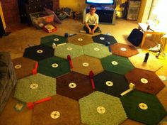 Giant Settlers of Catan!  that would be so awesome. :)