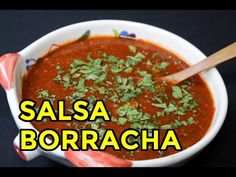 Salsa Borracha - Cocinar y Gozar Authentic Mexican Recipes, Mexican Food Recipes, New Recipes, Cooking Recipes, Favorite Recipes, Ethnic Recipes, Salsa Borracha, Best Salsa Recipe, Dips