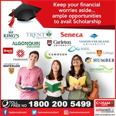 Take a confident first step to make your dream come true. YES, team can guide you best in this direction helping you avail the benefit of Scholarships available in the leading universities of the world. Stop worrying; just meet our expert consultants. University University, Scholarships Canada, Algonquin College, Fraser Valley, Social Media Banner, Study Abroad, First Step, Confident