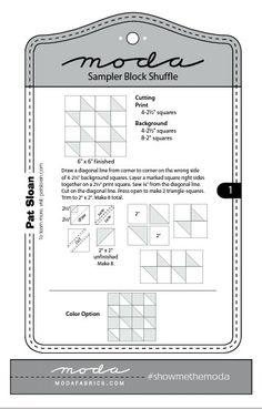 Moda Sampler Block Shuffle - Block # 1