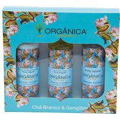 Kit para Banho Tri Set Chá Branco e Gengibre - Orgânica