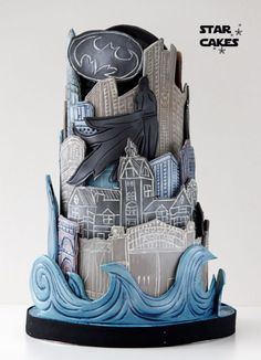 Gotham City Wedding cake - CakesDecor