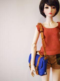 1pinfun 迷你 斜背包 Doll BJD 人形玩偶專用