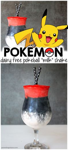 Kids will love this Dairy Free Pokémon Shake! Make with real strawberries and without the food coloring. Pokemon Go, Pokemon Party, Halloween Coctails, Pokemon Birthday, Non Alcoholic Drinks, Beverages, Cocktails, Party Drinks, Birthday Drinks