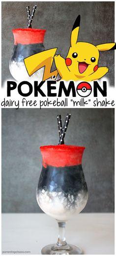 Kids will love this Dairy Free Pokémon Shake!