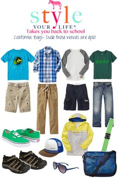 Style Your Life: back to school tween boys