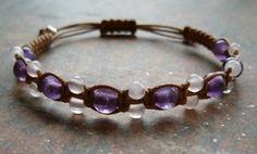 Amethyst & Rose Quartz Healing Energy Bracelet - http://zenjewelry.mysticnaturals.com/amethyst-rose-quartz-healing-bracelet-1/