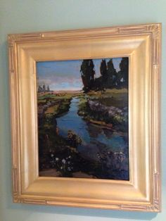 Jan Schmuckal - Tonalist Impressionist Artist - A gorgeous landscape featuring a stream - Arts & Crafts - Craftsman - Bungalow - Art