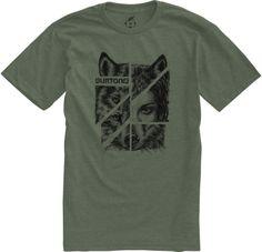 Burton Shewolf recycled slim fit t-shirt Heather Loam