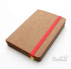 Business Card Holder - Credit Card Holder - Wallet Betiluca washable - Neon Red on Etsy, $12.36