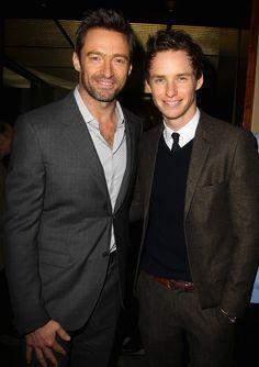 Hugh Jackman & Eddie Redmayne, Les Misérables Luncheon, December 11, 2012