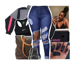 """nike contest"" by lamamig ❤ liked on Polyvore featuring NIKE and Louis Vuitton"