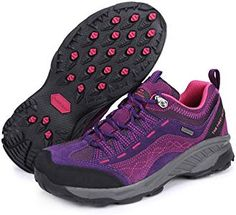 c5d5552b961e Amazon.com  The First Outdoor Women s Breathable Purple Hiking Shoe US Size  5.5  Sports   Outdoors