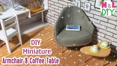DIY Miniature Armchair and Coffee Table | How to make an Armchair & Coff...
