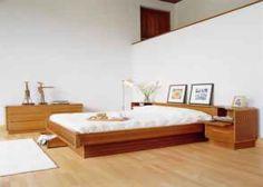 Mid Century Danish Modern Teak Queen Platform Bed - $600 (Oakley)