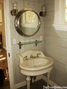 Love the salvaged sink idea.