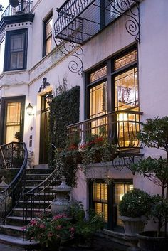 Beautiful Exterior: brownstone townhome.