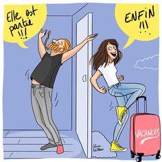 Vacances pour nous 2 ! Illustration, Family Guy, Drawing, Guys, Memes, Fictional Characters, Art, Painters, Vacation