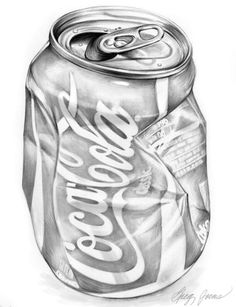 Crumbled Tin of Coca-Cola drawing Coca Cola, Still Life Drawing, Still Life Art, Drawing Skills, Drawing Techniques, Drawing Tips, Shading Drawing, Drawing Ideas, 3d Drawings