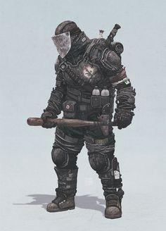 Zombie Hunter by Yuri Shwedoff, via Behance