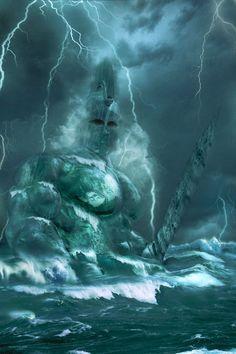 Poseidon, god of the sea