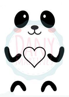 Molde lixeira Panda Kawaii