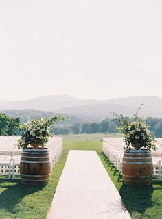 The Only East Coast Vineyard Wedding You Need to See Romantic Pippin Hill Farm wedding ceremony: www.stylemepretty… Photography: Allison Kuhn – www. Wedding Ceremony Ideas, Ceremony Decorations, Wedding Themes, Wedding Reception, Outdoor Wedding Ceremonies, Wedding Centerpieces, Wedding Aisles, Wedding Backdrops, Ceremony Backdrop