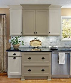 Kitchen Gray Taupe On Pinterest Grey Cabinets Taupe And Cabinet