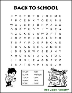Back to school word search for kids. A fun way for kids to work on spelling of back to school themed words. These free printable word searches are for kids at a grade 3 & 4 spelling level. Kids Word Search, Word Search Puzzles, Back To School Worksheets, Back To School Activities, School Themes, School Fun, Word Puzzles For Kids, Free Printable Word Searches, Spelling Activities
