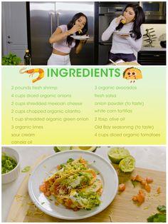Karrueche Tran and Kylie Jenner shrimp tacos recipe!