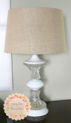 DIY Lamp Makeover @ makingitinthemountains.com  | #crystal