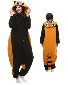 544cab2fed Red Panda Kigurumi Onesie Pajamas Polar Fleece Animal Unisex Costumes