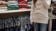 Step-by-step tips for organizing your closet and keeping it that way, including how to style it for your personality and tips for perfectly hung jeans! Jean Organization, Best Closet Organization, Closet Tour, Clothing Storage, Closet Bedroom, Big Houses, Declutter, Closet Ideas, Dressing Room