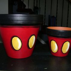 Mickey flower pots