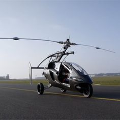 Jetsons Land-Air Hybrid  Flying cars making a comeback. PAL-V ONE which looks like a cross between a three-wheeler & a helicopter uses a rear-mounted propeller to take off & a free-spinning rotor on top for lift. Made by PAL-V in the Netherlands, it needs about 200 meters to take off & costs nearly $ 300000. If the price comes down and a reasonable way can be found to keep skyborne vehicles separated, we may at last see a world that is somewhat akin to the one depicted on the Jetsons.