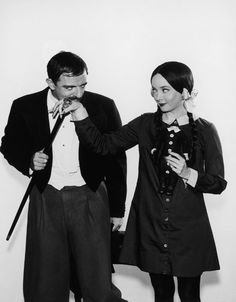 Gomez & Morticia Addams before they got married
