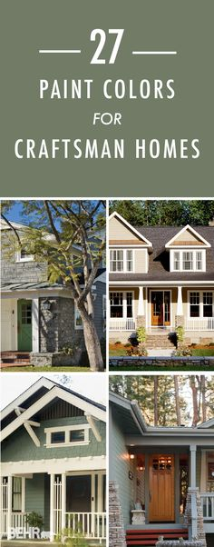 Top Modern Bungalow Design Craftsman style homes are notorious for their intricate detailing which pairs great with the right paint. Click through to find 27 handpicked BEHR color schemes to inspire your curb appeal. Exterior Paint Colors For House, Paint Colors For Home, Craftsman Bungalow Exterior, Craftsman Decor, Craftsman Houses, Exterior Color Schemes, Craftsman Style Homes, Craftsman Bungalows, Style At Home