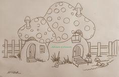 Arte * Vida: Casinhas Cogumelo