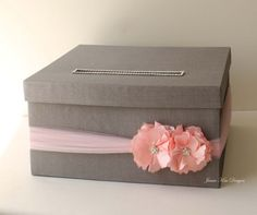 Wedding Card Box Money Holder Gift Card Box - Custom Made to Order