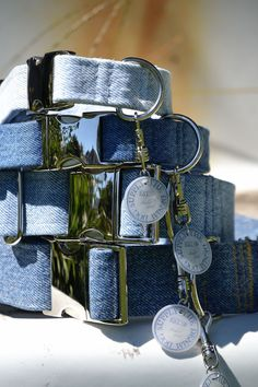 The Denim Dog, Denim Dog collars The Classics, dog collars, recycled denim, up-cycled dog collars