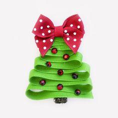 18 ideas diy christmas bows hair ribbon sculpture for 2019 Ribbon Hair Clips, Hair Ribbons, Diy Hair Bows, Diy Bow, Diy Ribbon, Ribbon Crafts, Ribbon Bows, Christmas Hair Bows, Ribbon On Christmas Tree