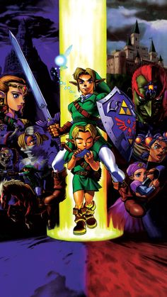 The Legend of Zelda Ocarina of Time Wallpaper made from HD Link Zelda, Zelda Skyward, Mobile Wallpaper, Iphone Wallpaper, Zelda Tattoo, Legend Of Zelda Breath, Animation, Background Pictures, The Legend Of Zelda